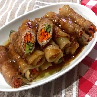 お弁当にも☆豚肉野菜巻き