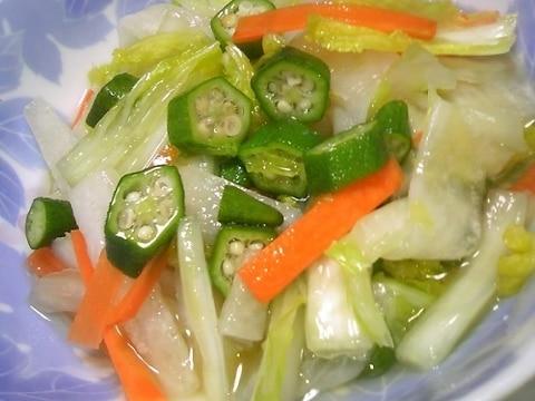トロ~ンDEおいしい♡白菜と大根とオクラのお漬物