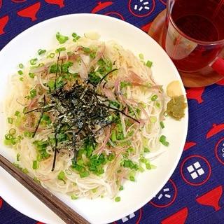 薬味たっぷり☆ぶっかけ素麺