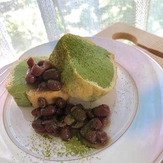 ♡うす揚げと豆腐の抹茶ロールケーキ風♡糖質オフ