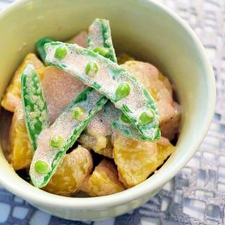新じゃが芋とスナップエンドウの明太マヨネーズ和え