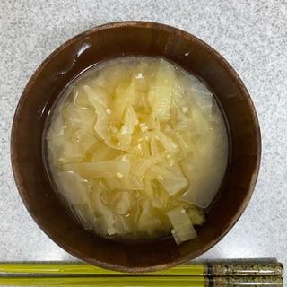 切り方にコツあり!キャベツの味噌汁