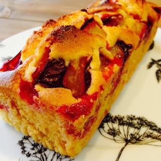 プラムのパウンドケーキ