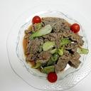 牛もも肉と青梗菜の甘辛炒め