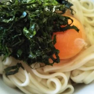 大葉たっぷり♫卵かけうどん(◕ᴗ◕✿)