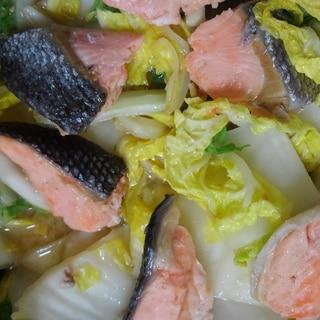 鮭と白菜の味噌バター煮、ちゃんちゃん焼き風