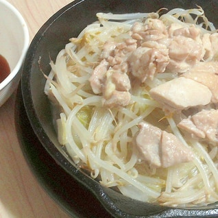 ニトスキで作る簡単一人鶏肉鍋+シメ雑炊