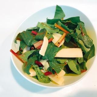 ほうれん草と高野豆腐とチーズの☆イタリアンサラダ