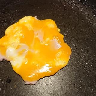 ハムチーズの甘い卵焼き