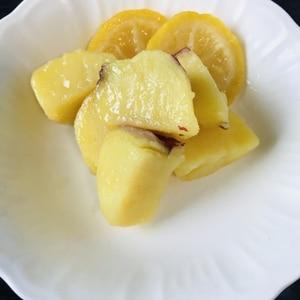 電子レンジで さつまいものレモン煮