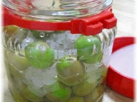 りんご酢で梅シロップ・梅ジュース♪