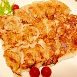 粗挽き肉で☆シンプル餃子
