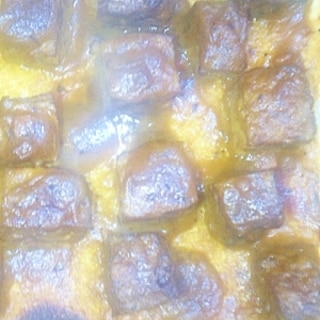 簡単美味!サイコロハンバーグカレートースト