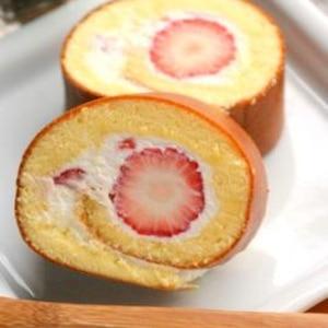 ふんわりやわらか♪いちごのロールケーキ