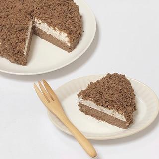 【絶品】2層のチョコクランブルチーズケーキ