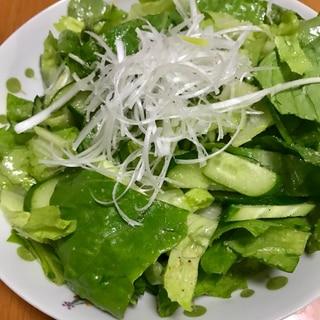 切って混ぜるだけ。簡単チョレギサラダ。