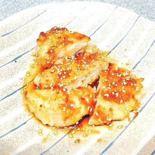 鶏むね肉のピリ辛ソース