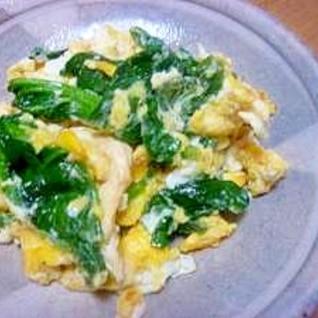 *お弁当おかず*ほうれん草の卵とじ*