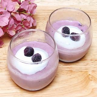 ブルーベリーミルクプリン