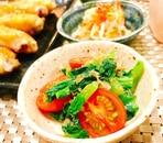 小松菜とミニトマトのおかか和え