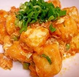 豆腐のチリソース炒め
