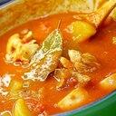 大根と鶏モツのトマト煮