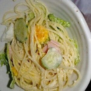 普通のスパゲッティサラダ