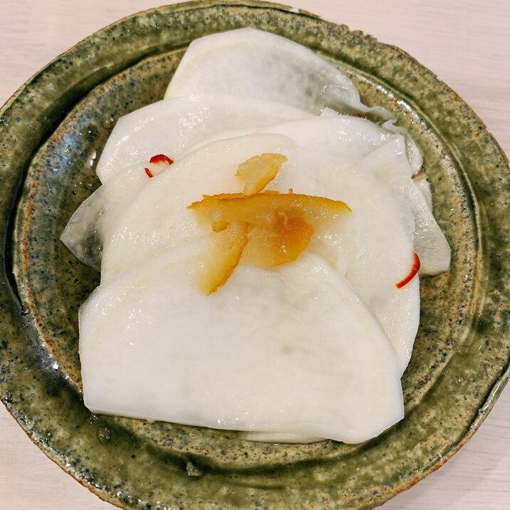 京の料亭風♡柚子香るかぶの千枚漬け