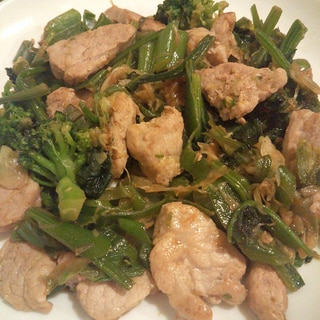 野菜と豚肉のオイスターソース炒め