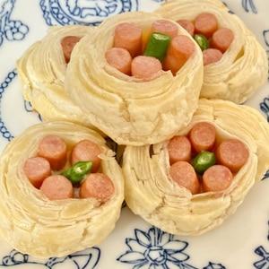 ポークビッツの★ひとくちウィンナーパイ