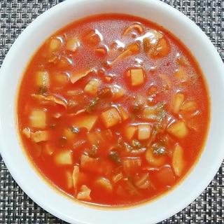 トマトジュースで根野菜のミネストローネ