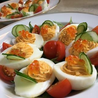 簡単!ゆで卵のオードブル