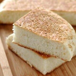 フライパンで焼くごまパン