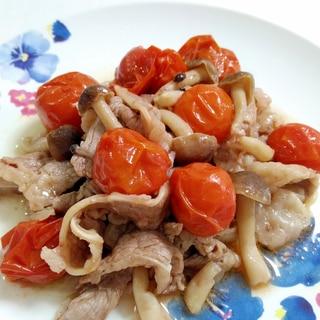 シンプルな一品☆牛肉とトマトの塩こしょう炒め