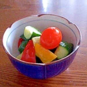 ポリ袋で簡単 カラフル野菜のピリッとピクルス