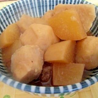 圧力鍋で里芋と大根の煮物♪