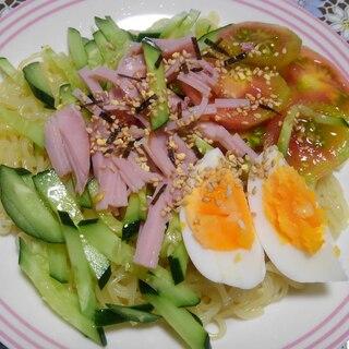 ゆで卵の冷やし中華