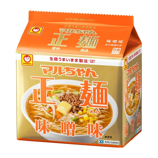 マルちゃん正麺 味噌味  5食パック