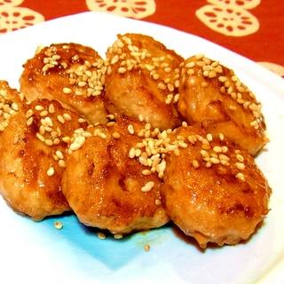 お弁当に★鶏つくねの照り焼き