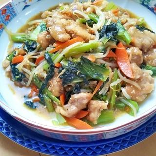 【大皿料理】鶏肉のナムル炒め