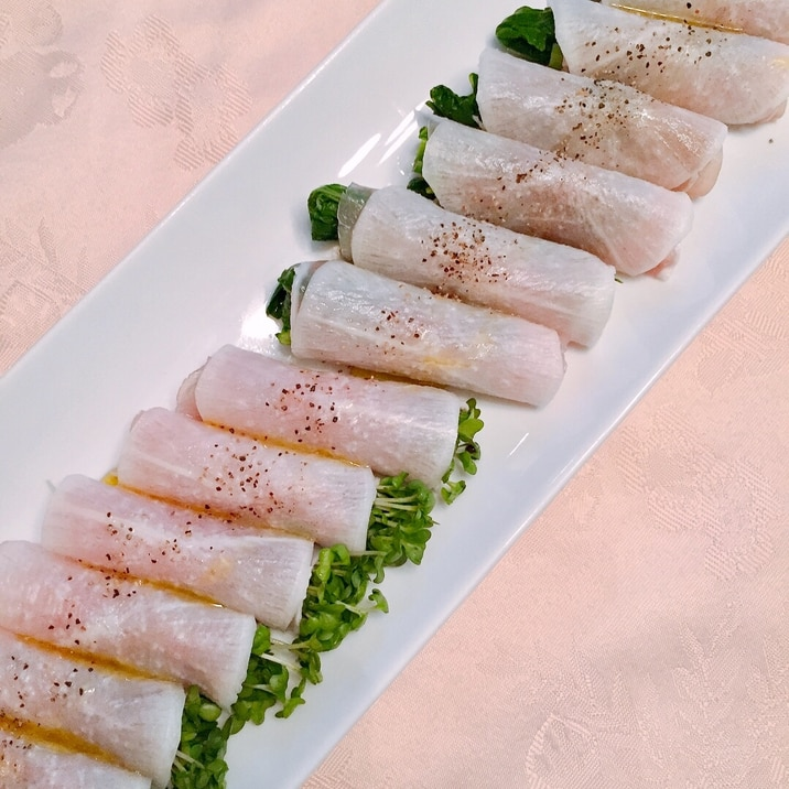 大根の生ハム巻き★野菜も一緒に!簡単前菜♪