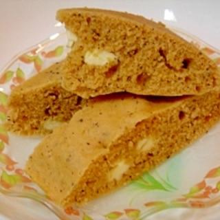 ホットケーキミックスで★黒ゴマきな粉 蒸しパン