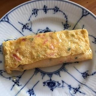 紅生姜と青のり、ちくわの卵焼き