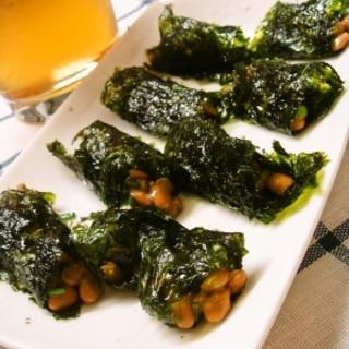 韓国海苔と納豆のおつまみ&小腹が減ったら