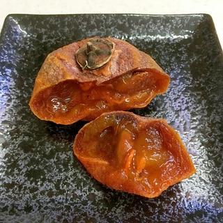 甘柿の干し柿(室内で時短7日で作る)