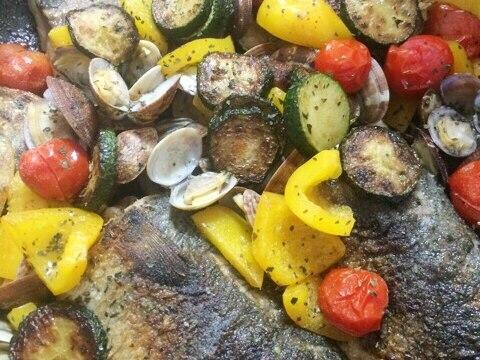夏野菜と鯖のアクアパッツァ