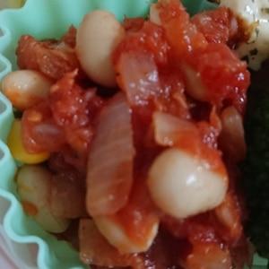大豆とツナのトマト煮こみ