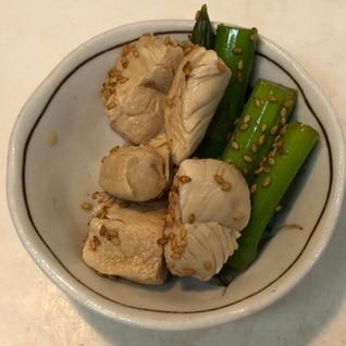 【節約酒肴】ササミとアスパラの麺つゆ漬け