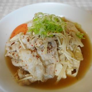 豚バラとえのきの味噌鍋