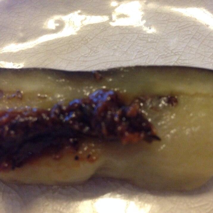 茄子の油炒め味噌のせ
